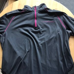 Nike Livestrong Quarter Zip, Athletic Fit
